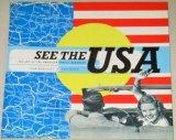 洋書)SEE THE USA/アメリカの観光地レトロポスター・パンフ他デザイン集