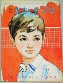 画像1: 北原文雄・作  中沢潮・挿絵「青空にサーブを」美しい十代 昭和40年11月号付録/表紙・小林裕