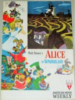 画像1: ウォルト・ディズニー製作「不思議の国のアリス」映画パンフレット